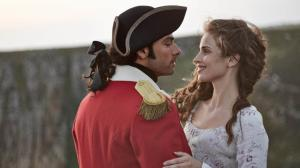 Poldark; Sundays, June 21 - August 2, 2015 on MASTERPIECE on PBS; Part One, Sunday, June 21, 9:00 - 10:00pm ET; After fighting for England in the American Revolution, Poldark returns home to Cornwall and finds wrenching change. He loses one close friend and gains another. Shown from left to right: Aidan Turner as Ross Poldark and Heida Reed as Elizabeth; (C) Robert Viglasky/Mammoth Screen for MASTERPIECE; This image may be used only in the direct promotion of MASTERPIECE. No other rights are granted. All rights are reserved. Editorial use only.